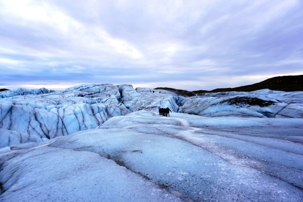 Iceland glacier travel