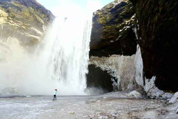 Waterfall from Iceland travel